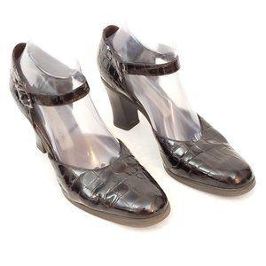 Martinez Valero Leather heels w Rubber soles Sz 10